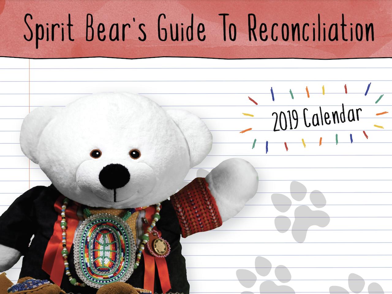Cover: Spirit Bear's Guide to Reconciliation 2019 Calendar